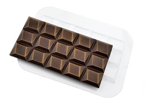 Пластиковая форма для шоколадных плиток