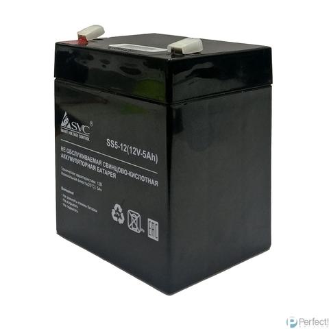 SVC Батарея SS5-12 АКБ, 12В/5Ач, AGM, Клемма T2(F2)/T1(F1)