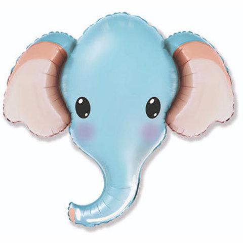 Шар фигура Голова Слона голубая
