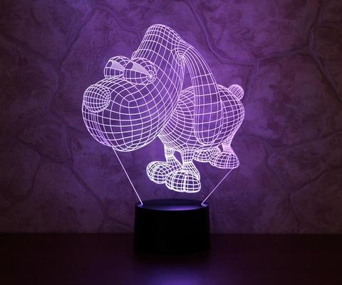 3D светильник Пёс