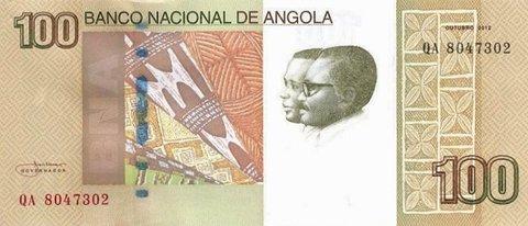 Банкнота 100 кванз 2012 год, Ангола. UNC