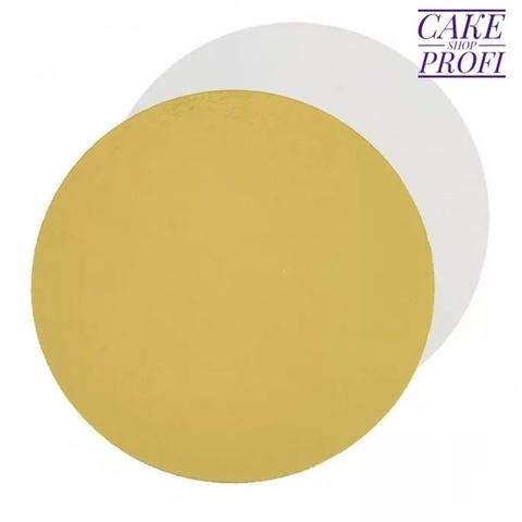 Подложка усиленная 3,2мм. (золото/белая) d.42см