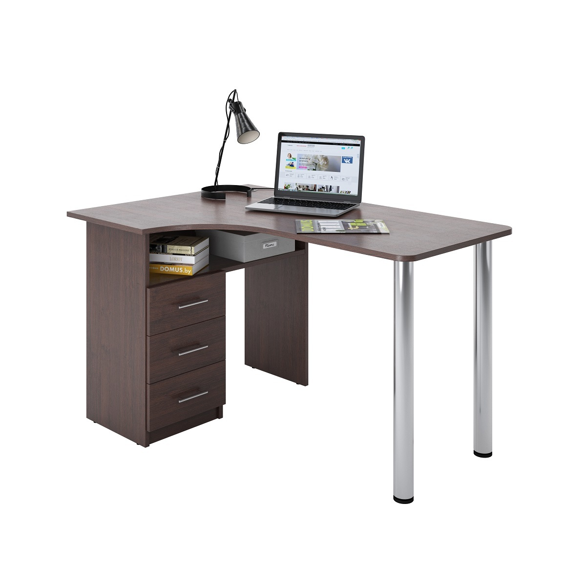 Угловой письменный стол ДОМУС Клер-1 венге