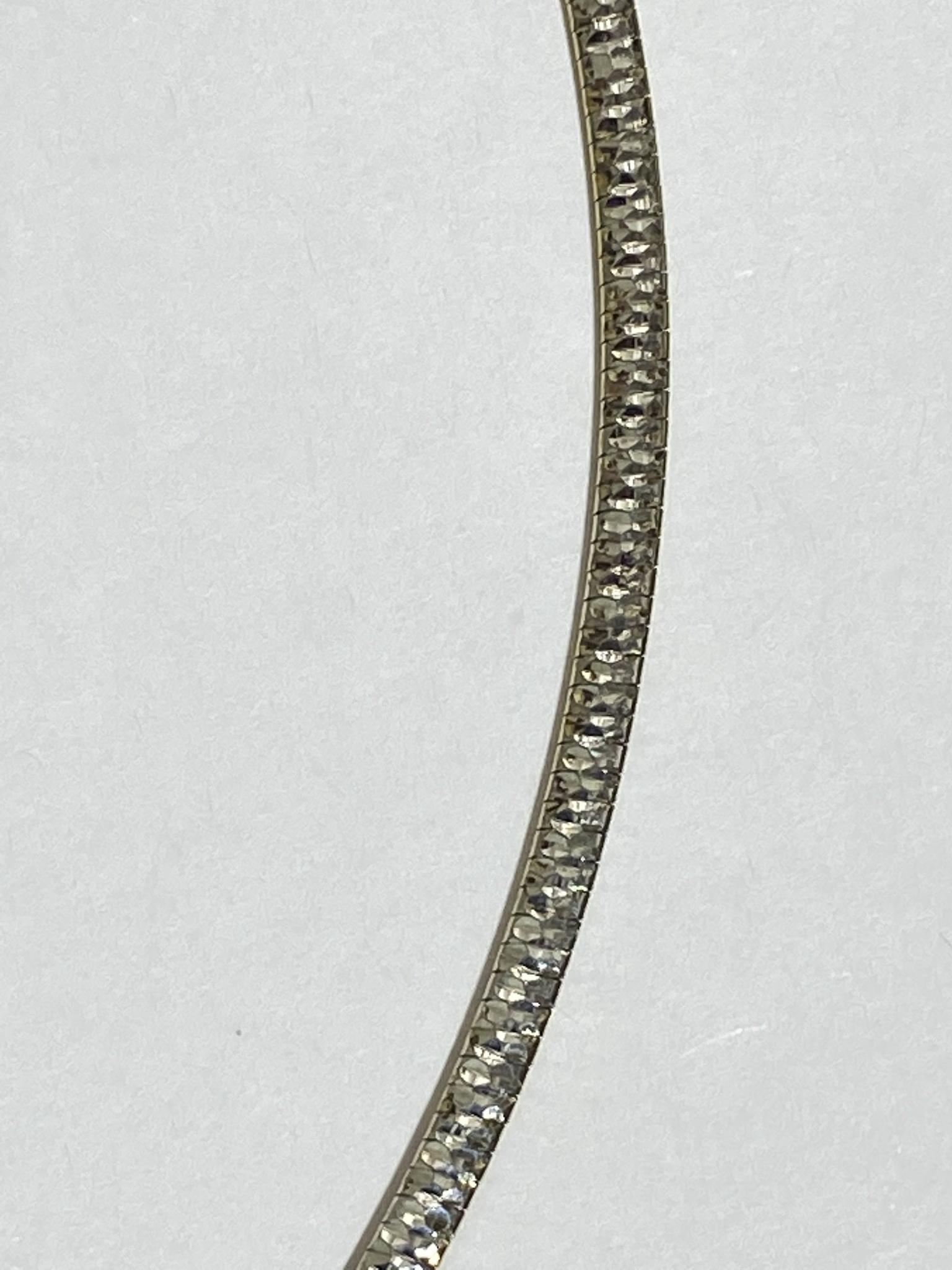 Колье 0,35 см. (серебряное колье).
