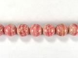 Бусина из родохрозита, шар гладкий 8 мм