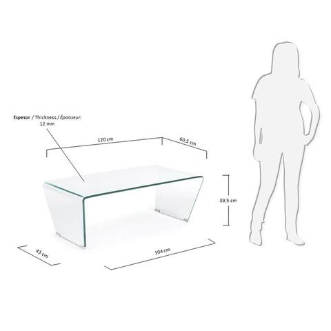 Столик Burano стеклянный