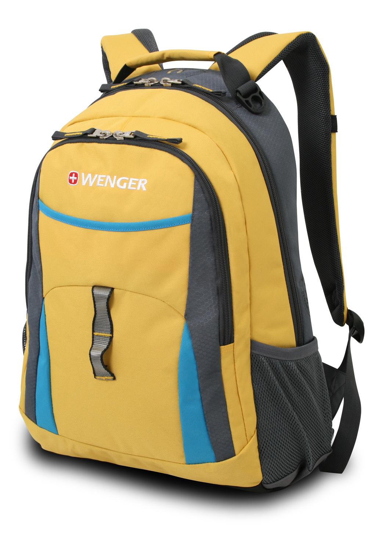 Рюкзак WENGER, цвет желтый/голубой/серый, 20 л., 45х32х15 см., 2 отделения (3162244408)