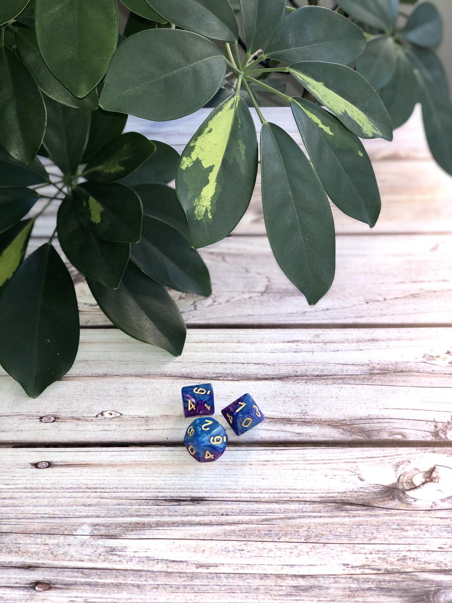 Кубики-вестники фиолетово-голубые
