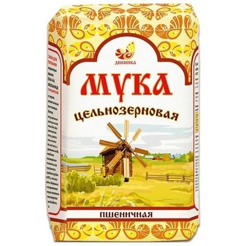 Мука Пшеничная цельнозерновая, 1 кг. (Дивинка)