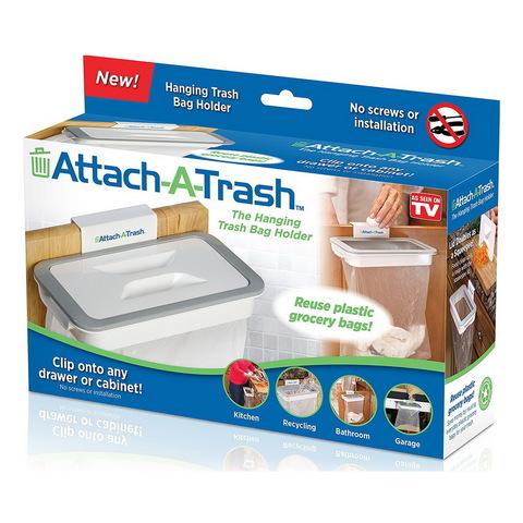 Висящий держатель мешка для мусора Attach-A-Trash