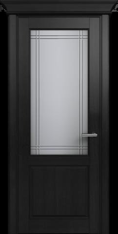 CLASSIC 521 Дуб Черный стекло Итальянская Решетка