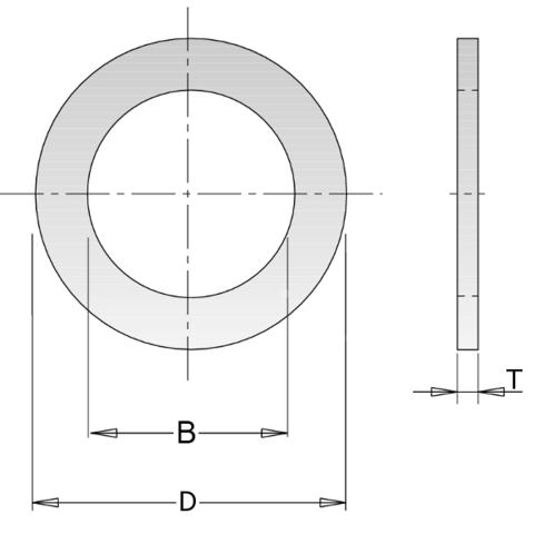 Кольцо переходное 32-30x2мм для пилы