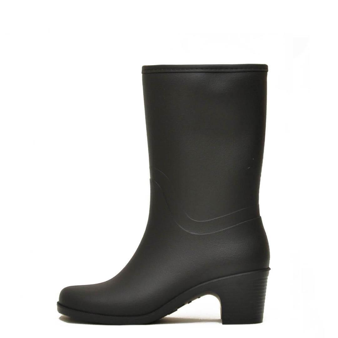 Укороченные сапоги на молнии и на каблуках NordMan Bellina Черные