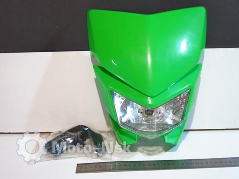 Фара эндуро Kawasaki KLX 250 зелёная