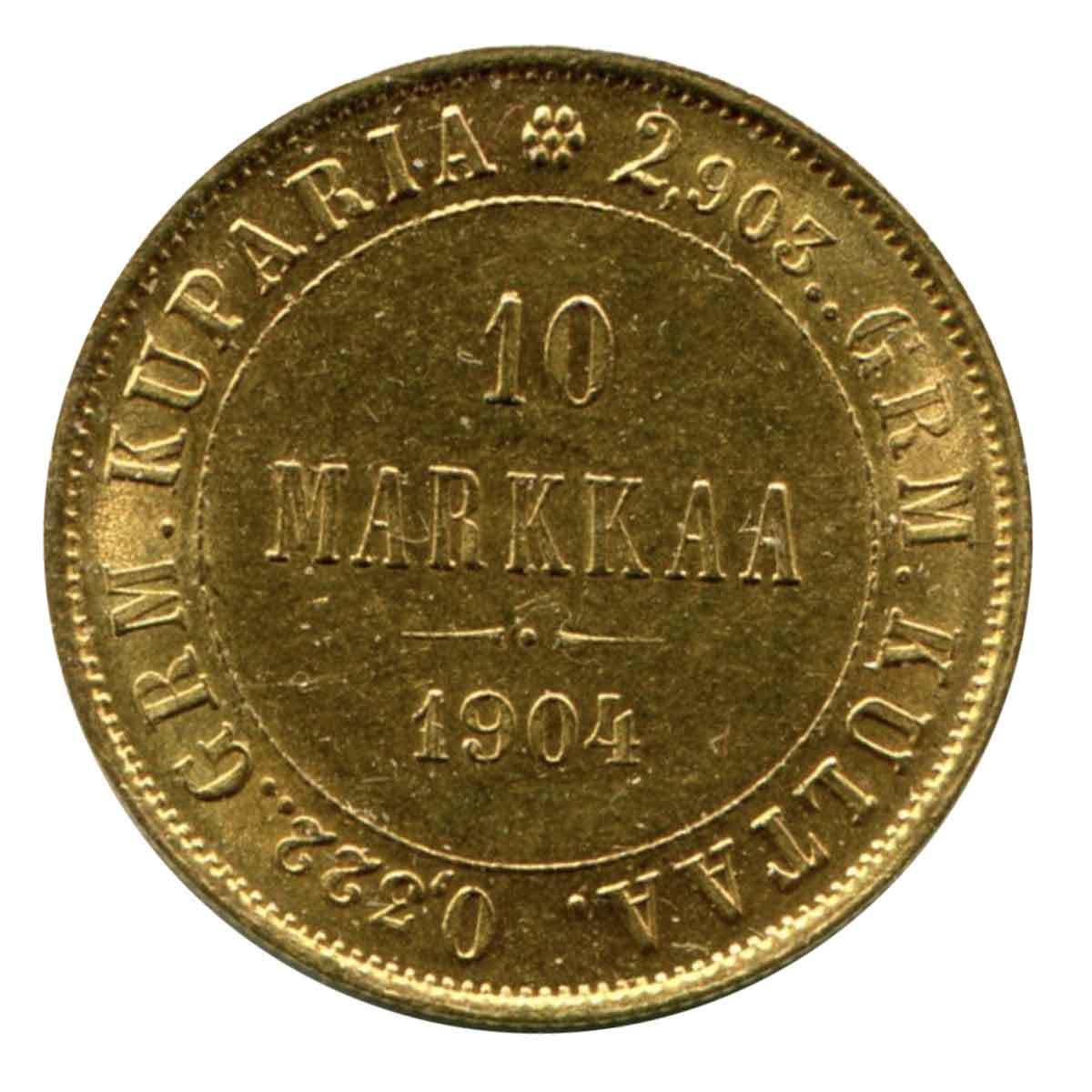 10 марок 1904 год. Золото