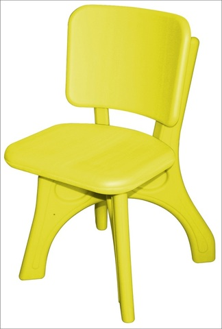 "Детский пластиковый стул ""Дейзи"", желтый"