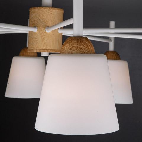 Потолочная люстра со стеклянными плафонами 70085/8 белый