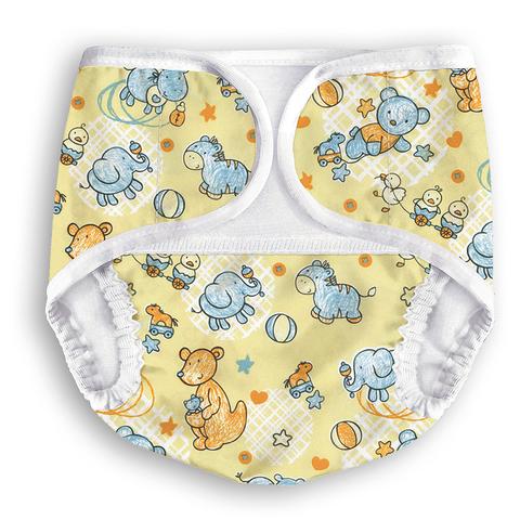 Многоразовые подгузники-трусики Multi-Diapers Original желтый узор