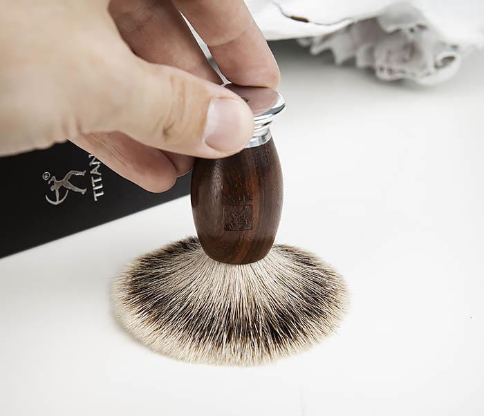 RAZ437-2 Помазок для бритья TITAN, барсучий волос фото 04