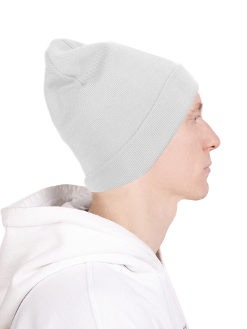 Шапки бини мужская зимняя белая