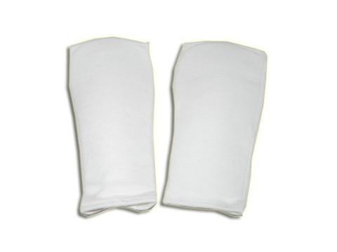 Защита руки (для единоборств от локтя до запястья, хлопок с эластиком, поролон, цвет белый, р. М,L). :(258):
