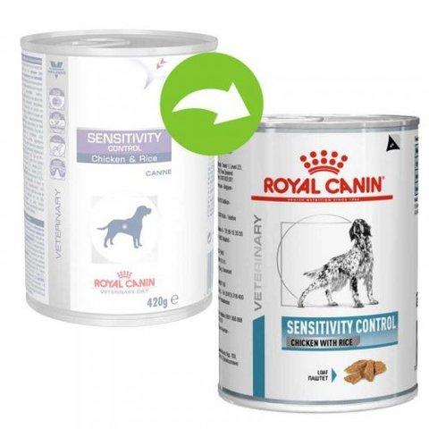 Консервы Royal Canin Sensitivity Control для взрослых собак с курицей и рисом 0,42кг