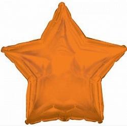 Фольгированный шар Звезда Оранжевый 18