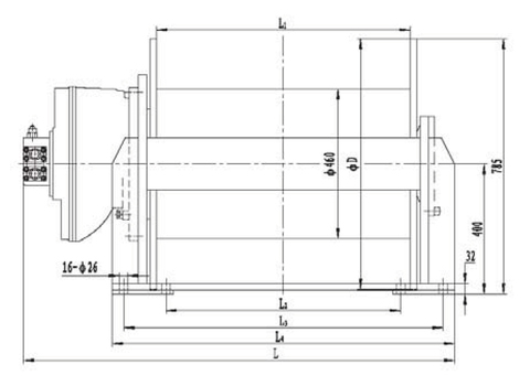 Стандартная лебедка IYJ5-130-142-28-ZP