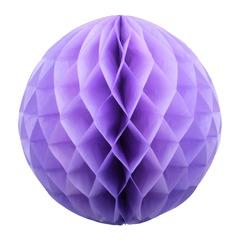 Бумажное украшение шар 40 см светло-сиреневый