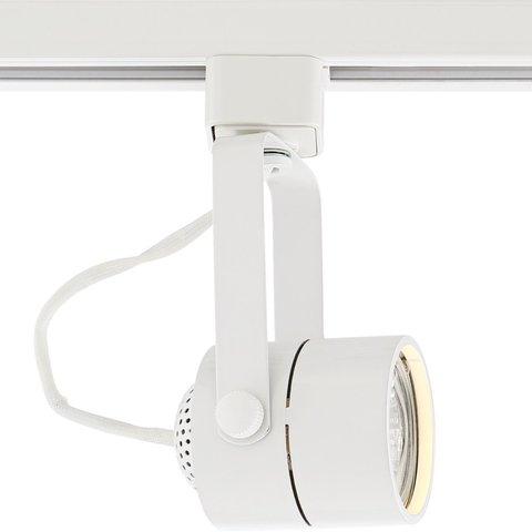 Круглый трековый светильник под лампу MR16 GU5.3 (белый)