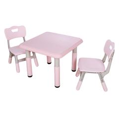 Пластиковый регулируемый квадратный стол + 2 стула