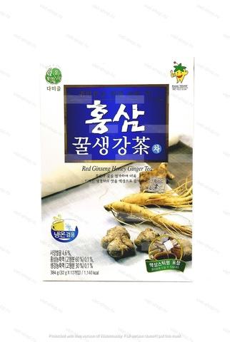 Корейский сироп для приготовления напитков с экстрактом женьшеня и имбиря Da Jung Red Ginseng Honey Ginger Tea, 384 гр.