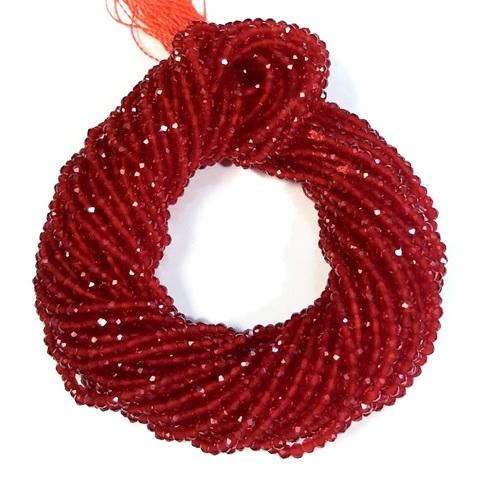 Бусины шпинель (имитация) граненая 2 мм цвет красный цена за 185 бусин (~37 см)