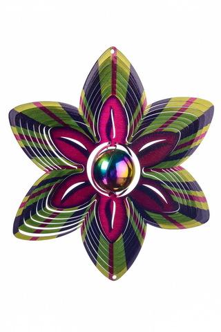 Ветряной спиннер Цветок с перламутровым шаром 25см (Iron Stop)