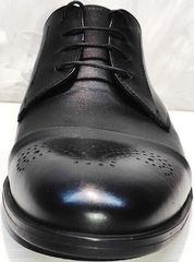 Строгие туфли со шнуровкой мужские Ikoc 2249-1 Black Leather.