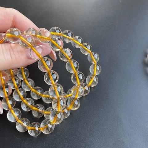 Бусины кварц рутиловый А золотой шар гладкий 11 мм 18 бусин