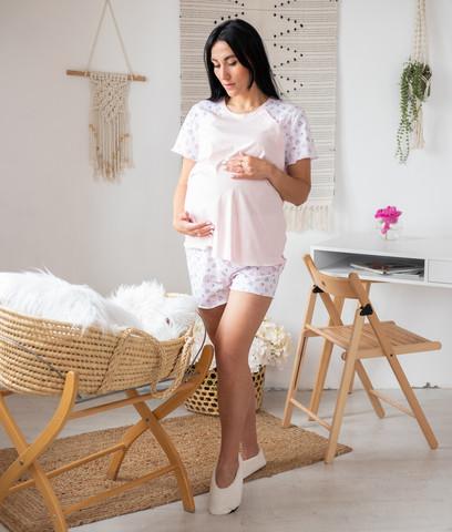 Пижама для будущих мам футболка с шортами