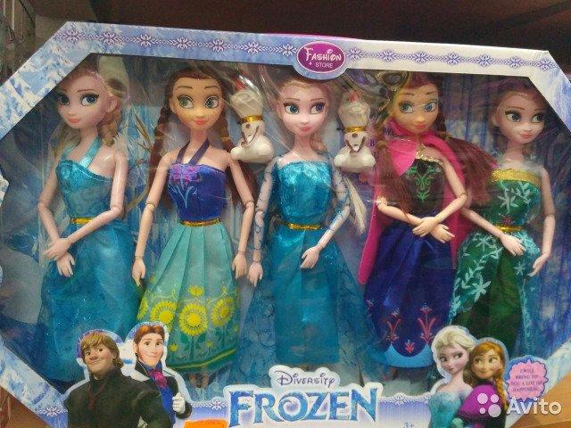 Набор из 5 игрушек из персонажей мультфильма Frozen