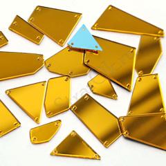 Пришивные зеркала в наборе золотые Gold