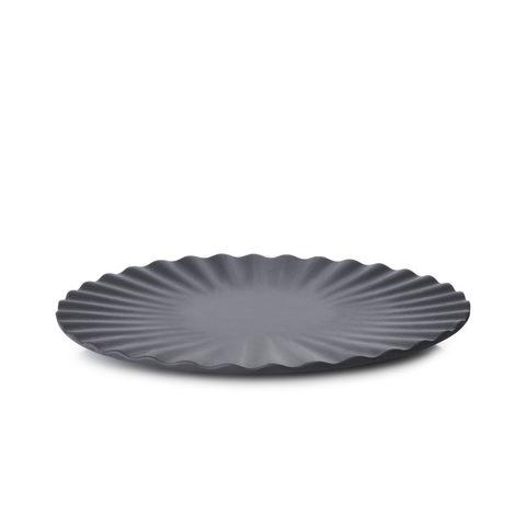Фарфоровая тарелка  17 см, черная, артикул 653638, серия Pekoe