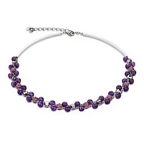 Колье Coeur de Lion 4895/10-0800 цвет фиолетовый