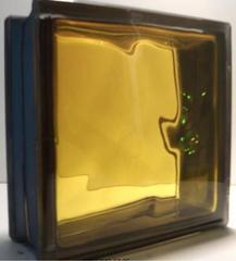 Купить стеклоблок медовый  черный бриллиант  19х19x8 не дорого