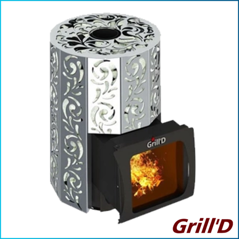 Печь Grill'D Violet Steel Short Window Max Котловая сталь