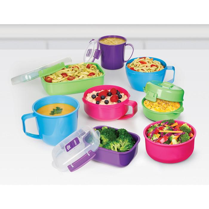 "Кружка суповая для СВЧ Sistema ""Microwave"" 565 мл, цвет Голубой"