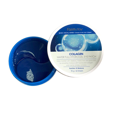 Гидрогелевые патчи c коллагеном для кожи глазами FARMSTAY Collagen Water Full Hydrogel Eye Patch
