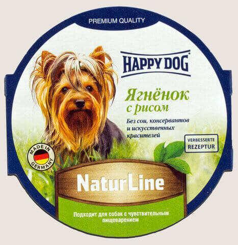 купить Happy Dog NaturLine Ягненок с рисом влажный паштет (ламистер) для щенков и взрослых собак 1 шт
