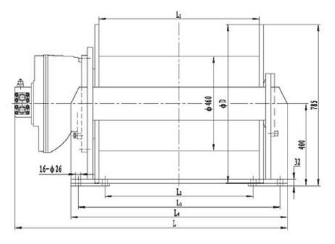 Стандартная лебедка IYJ5-120-142-28-ZP