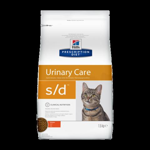 Hill's Prescription Diet s/d Urinary Care Сухой диетический корм для кошек при лечении мочекаменной болезни с курицей