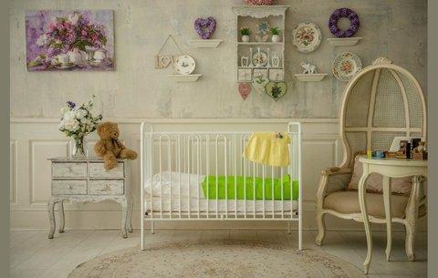 Кроватка детская Polini kids Vintage 110 металлическая, белый