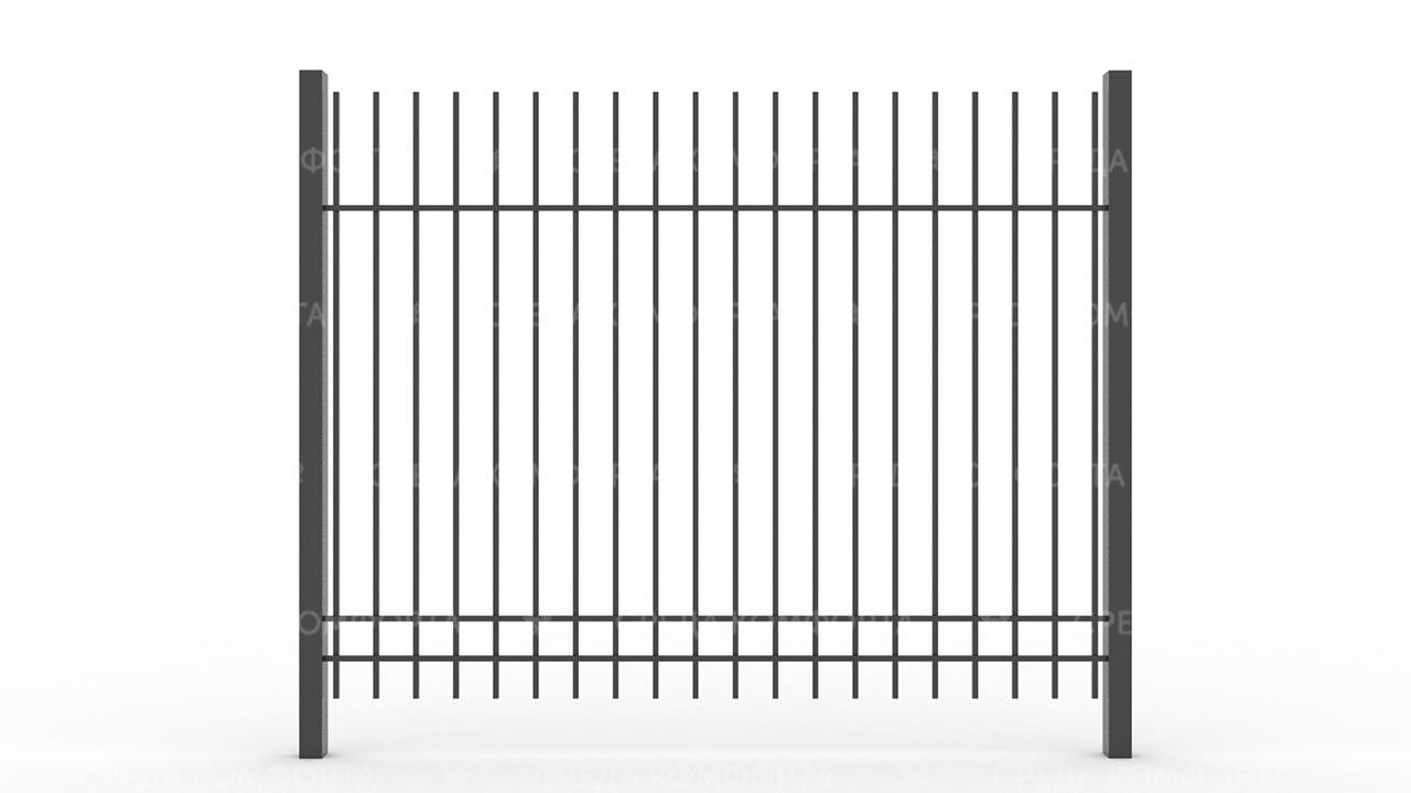 Забор из профильной трубы ZBR0138